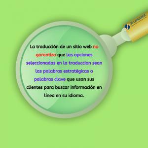 palabras claves para traducción de sitio web