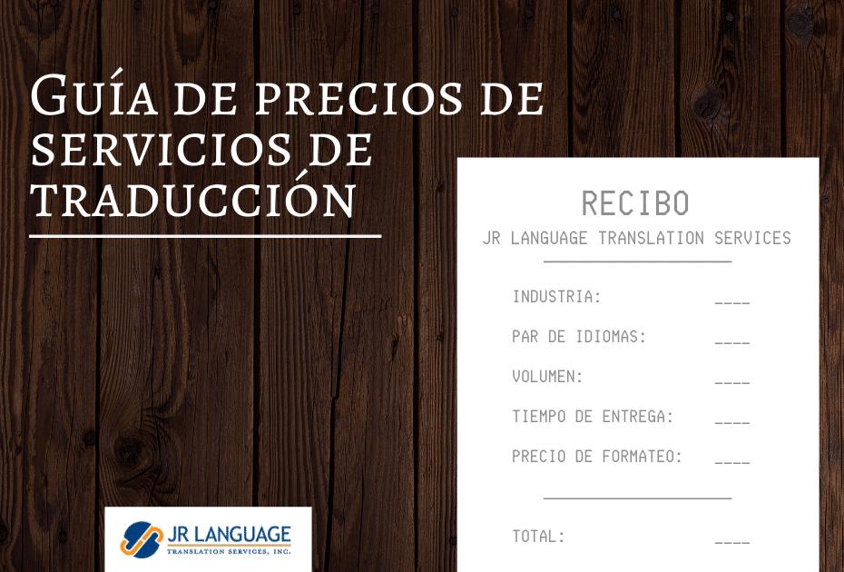 Servicios de Traducción guía de precios y elementos de costo