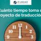 estimando tiempo en un proyecto de traducción