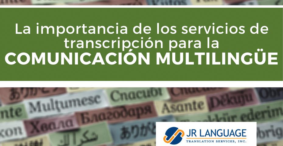 Servicios de transcripción y traducción
