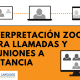 interpretación en zoom