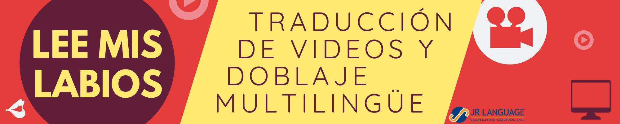 servicios de traducción de videos y doblaje multilingüe